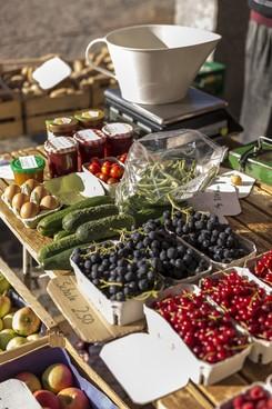Regionale Produkte auf dem Wochenmarkt